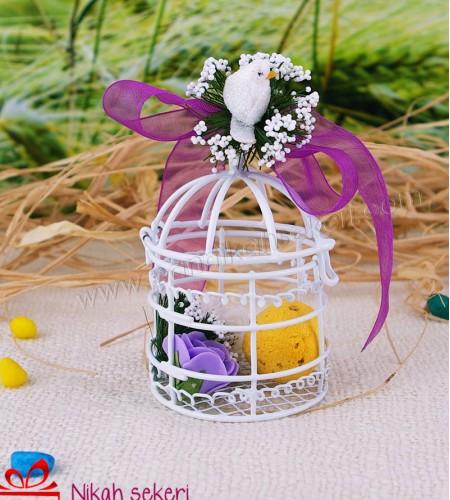 Çiçek Topu Kafes Nikah Şekeri