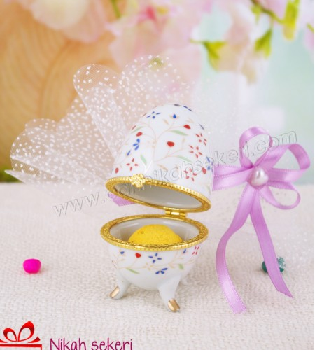 Çiçek Topu Porselen Kutu A11
